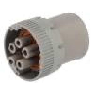 Konektor kulatý HD10 zástrčka zásuvka 5 PIN na kabel