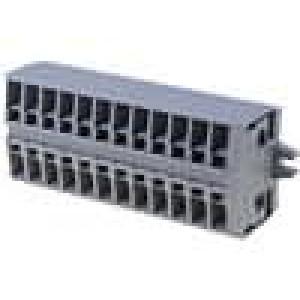 Svorkovnice 12PIN 0,08-2,5mm2 24A šedá 800V