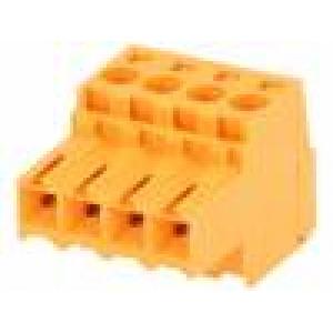 Rozpojovací svorkovnice 3,5mm na kabel póly:4 12A 320V