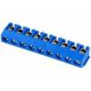 Svorkovnice úhlové 90° 1,5mm2 5mm póly:9 pocínovaný 15A 300V