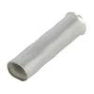 Trubičková koncovka neizolované měď 10mm2 20mm pocínovaný