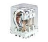 Relé elektromagnetické DPDT Ucívky:12VDC 16A/250VAC 40A 1,5W