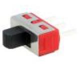 Přepínač posuvný 1-polohové SPDT 5A/120VAC 5A/28VDC ON-(ON)