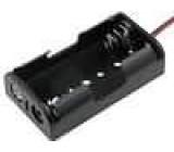 Pouzdro bateriové AA, R6 Počet čl:2 s vodičem barva černá 150mm