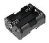 Pouzdro bateriové AA, R6 Počet čl:6 konektor typu 6F22 barva černá