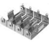 Pouzdro bateriové AA, R6 Montáž přišroubováním Počet čl:4 hliník
