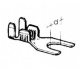 kabelové oko vidlicové - 5,2 x 0,75 - 2,5