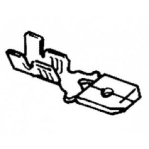 zástrčka plochá - 6,3 x 0,5 - 1,0