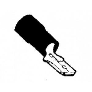zástrčka plochá izol. červená - 6,3 x 0,25 - 1,5