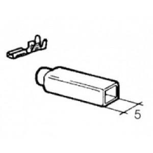 izolační návlek na objímku - 2,8 mm