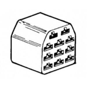 obal objímky s jazýčkem - 6,3 - 11 pólů