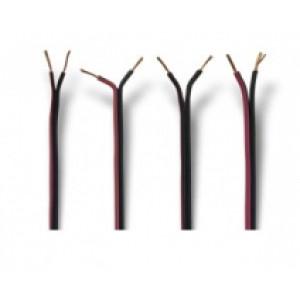 kabel hnědo - modrý - kulatý - 2 x 0,75 mm2