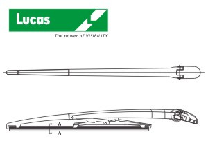 stěrač zadní standard s ramenem, typ C - 13
