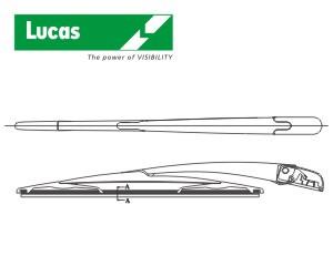 stěrač zadní standard s ramenem, typ F - 14