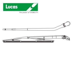 stěrač zadní standard s ramenem, typ D - 16