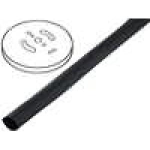 Teplem smrštitelná trubička 3:1 1,5mm černá polylefin