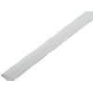 Teplem smrštitelná trubička 2:1 2,4mm L:1m bilá polylefin