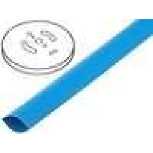 Teplem smrštitelná trubička 2:1 3,2mm modrá polylefin