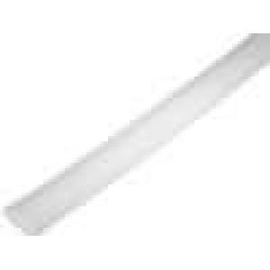 Teplem smrštitelná trubička 2:1 6,4mm L:1m průhledná