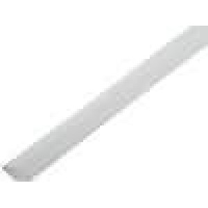Teplem smrštitelná trubička 2:1 9,5mm L:1m bilá polylefin
