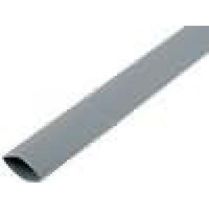 Teplem smrštitelná trubička 3:1 12mm L:200mm šedá 10ks