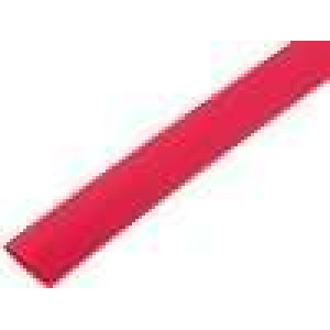 Teplem smrštitelná trubička 3:1 12mm L:200mm červená