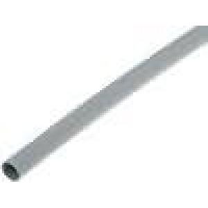 Teplem smrštitelná trubička 3:1 6mm L:200mm šedá 10ks
