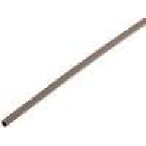 Teplem smrštitelná trubička 3:1 1,5mm L:200mm hnědá