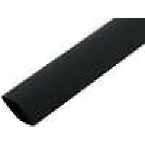 Teplem smrštitelná trubička 3:1 12mm L:200mm černá 10ks