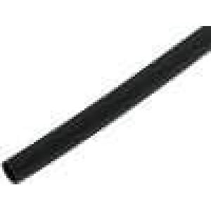 Teplem smrštitelná trubička 3:1 6mm L:200mm černá 10ks