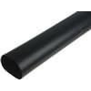 Teplem smrštitelná trubička 3:1 50mm L:1m černá
