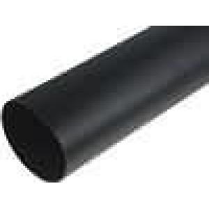 Teplem smrštitelná trubička 3:1 95mm L:1m černá Tl.stěny:3mm