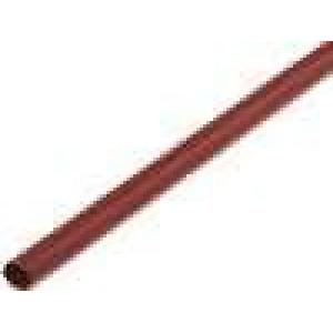 Teplem smrštitelná trubička 2,4mm L:1m 2:1 hnědá