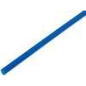 Teplem smrštitelná trubička 3,2mm L:1m 2:1 modrá