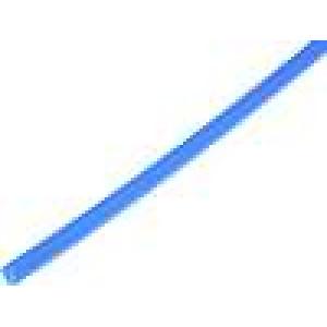 Teplem smrštitelná trubička 4mm L:1m 4:1 modrá