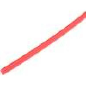 Teplem smrštitelná trubička 4mm L:1m 4:1 červená
