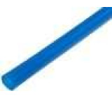 Teplem smrštitelná trubička 9,5mm L:1m 2:1 modrá