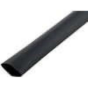 Teplem smrštitelná trubička 3:1 12mm L:1m černá polylefin