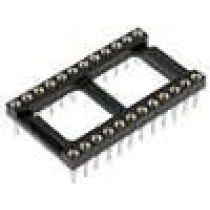 Patice DIP 24 PIN 7,62mm zlacený polyester dvýv:0,51mm 3A