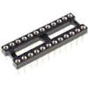 Patice DIP 24 PIN 7,62mm rozteč 2,54mm kulaté nožičky THT