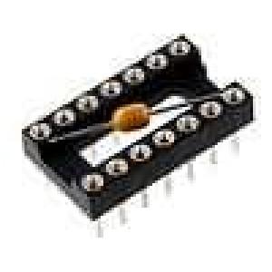 Patice DIP 14 PIN 7,62mm zlacený polyester UL94V-0 10Ω THT
