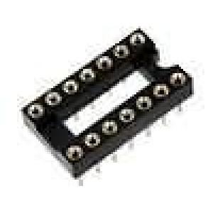 Patice DIP 14 PIN 7,62mm zlacený polyester UL94V-0 1A THT