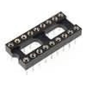 Patice DIP 18 PIN 7,62mm zlacený polyester UL94V-0 1A THT
