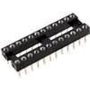 Patice DIP 24 PIN 7,62mm zlacený polyester UL94V-0 1A THT