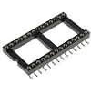 Patice DIP 28 PIN 15,24mm Kontakty slitina mědi SMT 0-85°C
