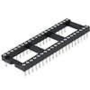 Patice DIP 40 PIN 15,24mm zlacený polyester UL94V-0 1A THT