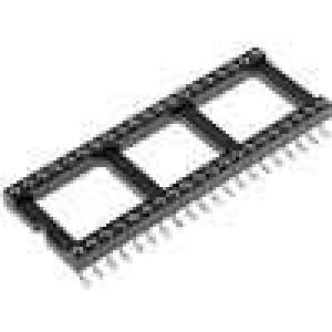 Patice DIP 40 PIN 15,24mm Kontakty slitina mědi SMT 0-85°C