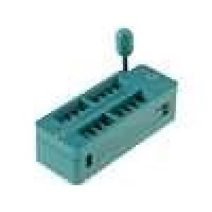Patice DIP ZIF 18 PIN 7,62mm zlacený rozebíratelná -55-150°C