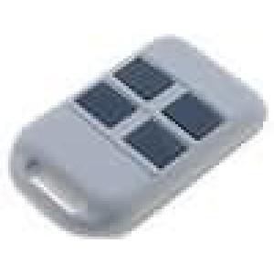 Kryt pro dálkový ovladač X:36mm Y:59mm Z:13mm ABS šedá