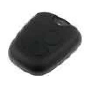 Přední panel pro dálkový ovladač plast černá Citroën, Peugeot